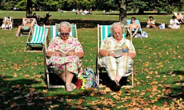 women sitting in the sun