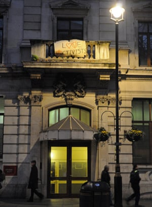 Activists take control and squat in a deserted building in the heart of London's West End.