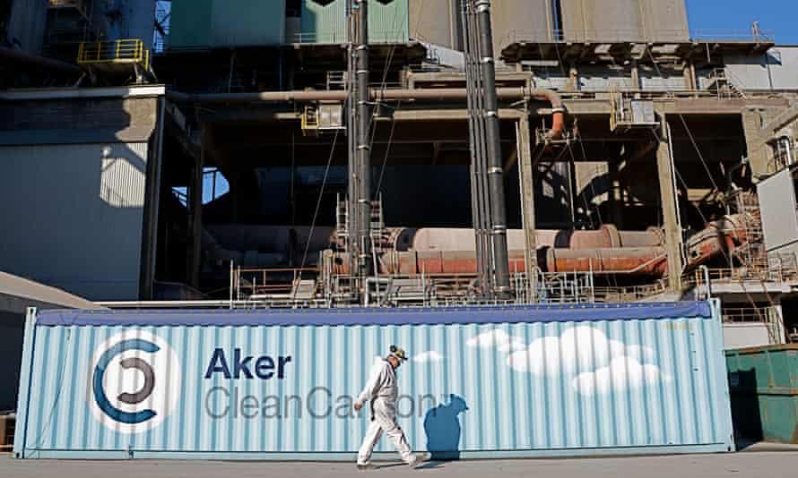 CCS ( Carbon capture) project in Norway : Aker Clean Carbon@Arthur Neslen for The Guardian