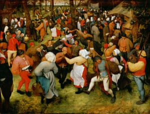 The Wedding Dance, c.1566, by Bruegel, codpiece on show.