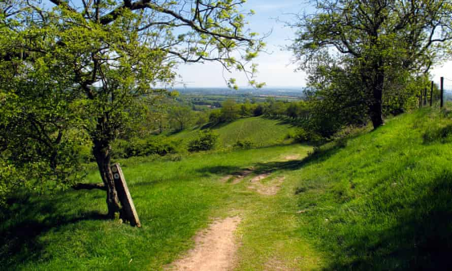 A footpath in the Clent Hills, Worcestershire,  UK, 2013.