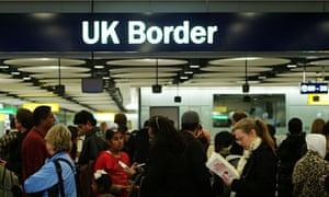 Border control at Heathrow