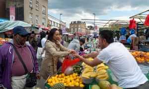 Ridley Road Market, a Dalston mainstay off Kingsland Road, now more famous for its trendy bars and clubs.
