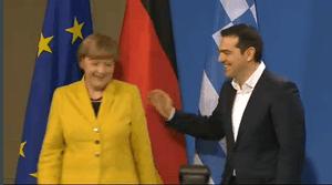 Angela Merkel and Alexis Tsipras