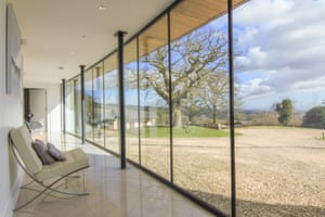 Glazed corridor of Kemeys Folly