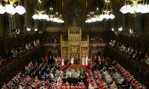 The Queen delivers her speech in the House of Lords in 2014
