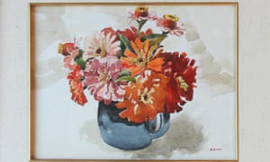 The watercolour of flowers painted by Adolf Hitler will be auctioned in New York.