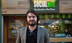 Josh Littlejohn, co-founder with Alice Thompson of Social Bite, which employs homeless people with little or no history of work.