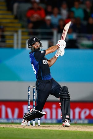 Thwack. New Zealand are in the World Cup Final courtesy of the bat of Grant Elliott.