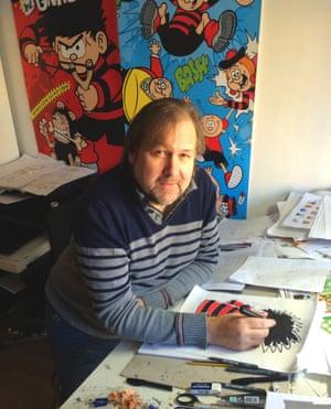 Beano illustrator Nigel Parkinson