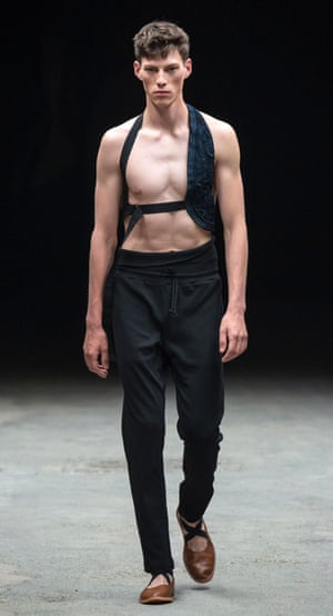 A not-terribly-practical way to carry a gun? Holsters at Dries Van Noten