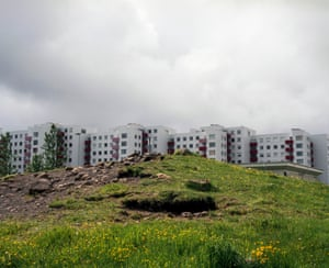 Vesturberg, Reykjavík: In the 1970's, plans to build a block of flats in the Breiðholt area were changed to spare an elf hill on the location. The block was eventually built behind the hill, rather than levelling it.