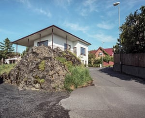 Merkurgata, Hafnarfjörður: In a street named Merkurgata in Hafnarfjörður, just outside Reykjavík, is an elf rock that extends far into the street, narrowing it rather dangerously for passing vehicles. It was spared during the development of the area.