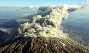 Steam pours from Mount St. Helens in Washington state in October 2004. Its eruption in 1980 was the most economically destructive volcanic event in the history of the USA. Photograph: Troy Wayrynen/AP