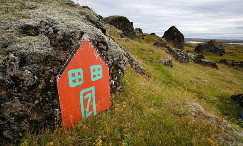 Iceland elf door rock home Selfoss