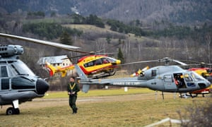 A recovery operation is mounted near Seyne, south-eastern France, near the Germanwings crash site.