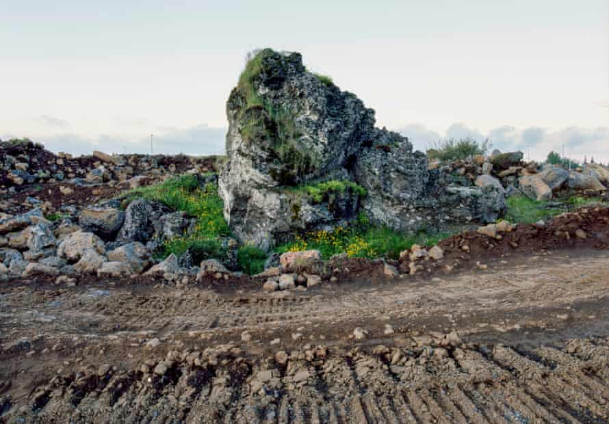 The Ófeigskirkja – a 'hidden people church' – at Gálgahraun, which held up construction of a new road to the town of Álftanes. It has been relocated to appease protesters.