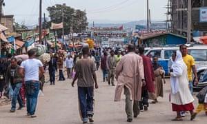 Busy Market Ethiopia