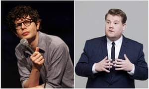 Simon Amstell and James Corden