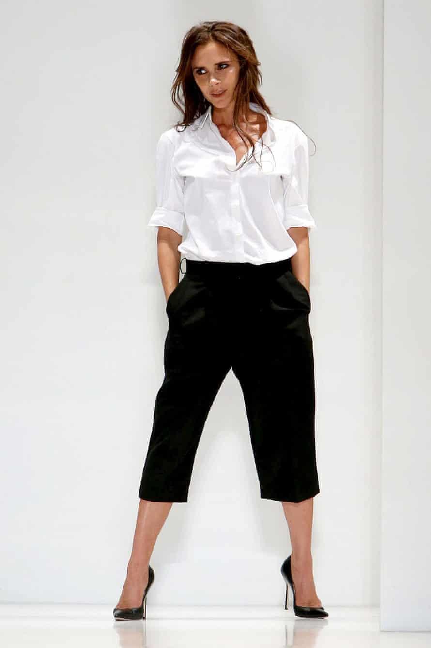 Victoria Beckham sporting culottes in 2013