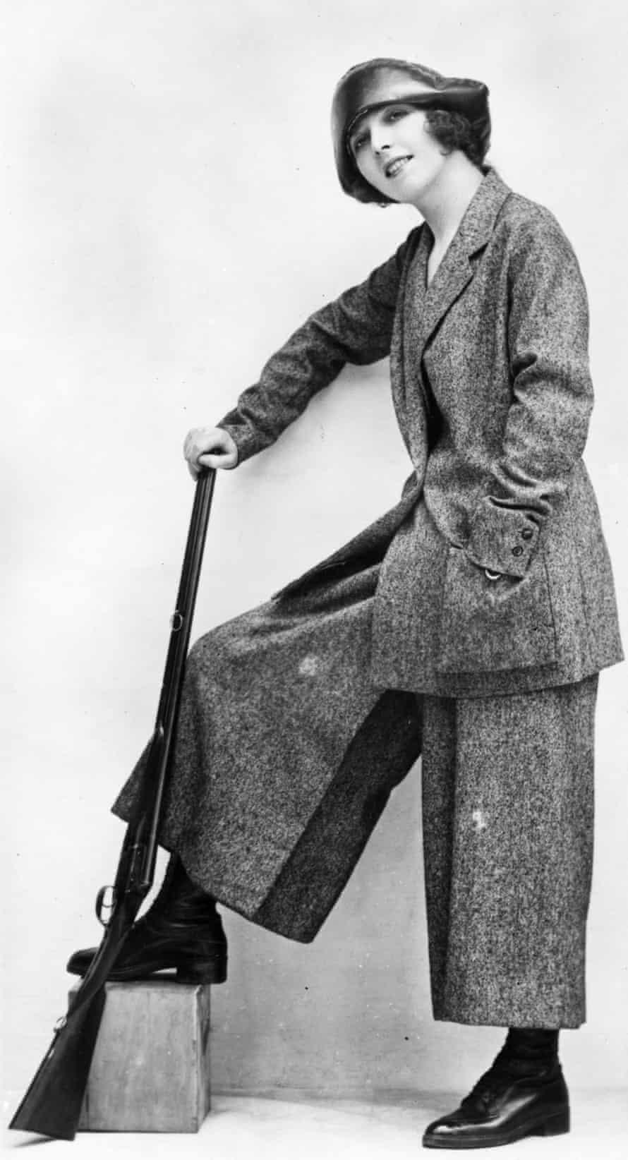 Culottes and tweed jacket