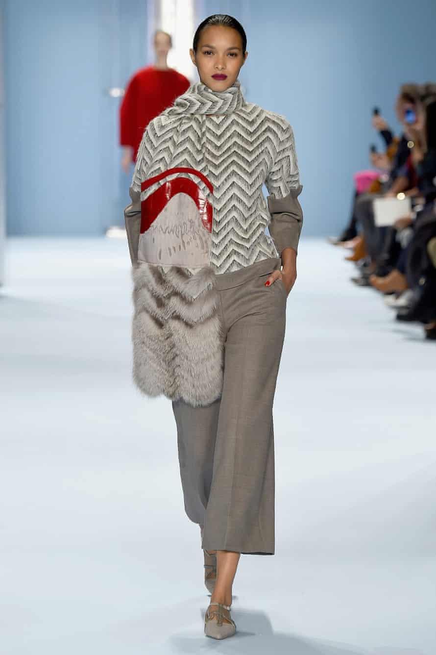 Culottes at the Carolina Herrera fashion show during Mercedes-Benz Fashion Week Autumn 2015 in New York.