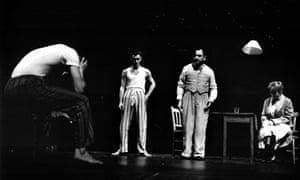 West Yorkshire Playhouse, Leeds 1994. L-R James Purefoy, Jude Law, Ken Stott and Ellie Haddington