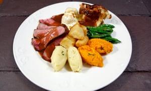 A Sunday roast plated feast