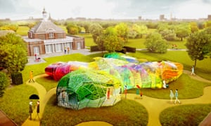 Psychedelic chrysalis … Spanish architects Selgas Cano's proposal for the 15th annual Serpentine Pavilion
