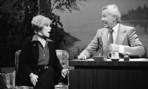 Joan Rivers with Tonight Show host Johnny Carson