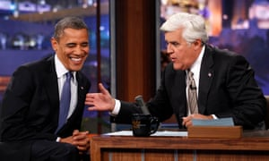 Barack Obama makes an appearance on the Tonight Show with Jay Leno