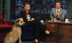 Ryan Gosling along with his dog George visits Late Night With Jimmy Fallon