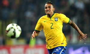 Brazil's Danilo chases after the ball in a friendly against Turkey in November 2014.