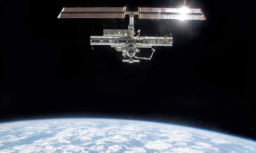 Satellite orbiting Earth.