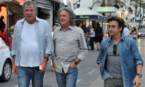 Jeremy Clarkson, James May and Richard Hammond filming in Spain. 'The paunch and popped collar look is one to be rapidly confined to the dark recesses of BBC history.'