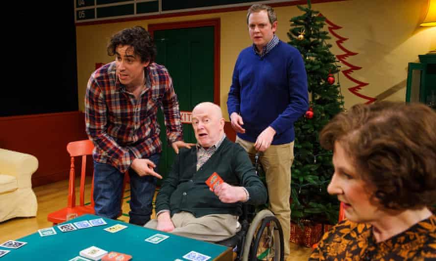Stephen Mangan, John Rogan as Francis, Miles Jupp and Deborah Findlay in Rules for Living.