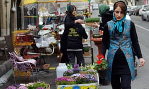 Iranians shopping at a street market on the eve of the Persian new year, Nowruz, in Tehran earlier in March.