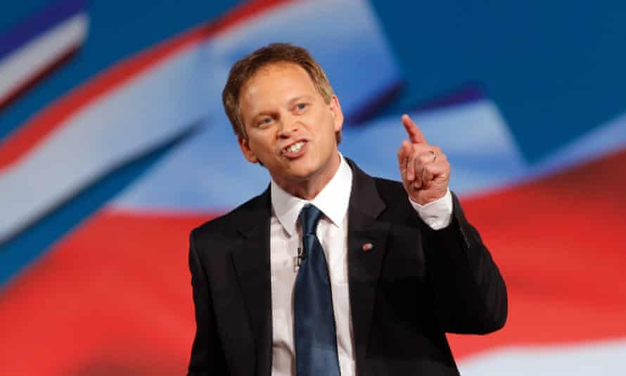 Grant Shapps speaking at the Conservative party conference
