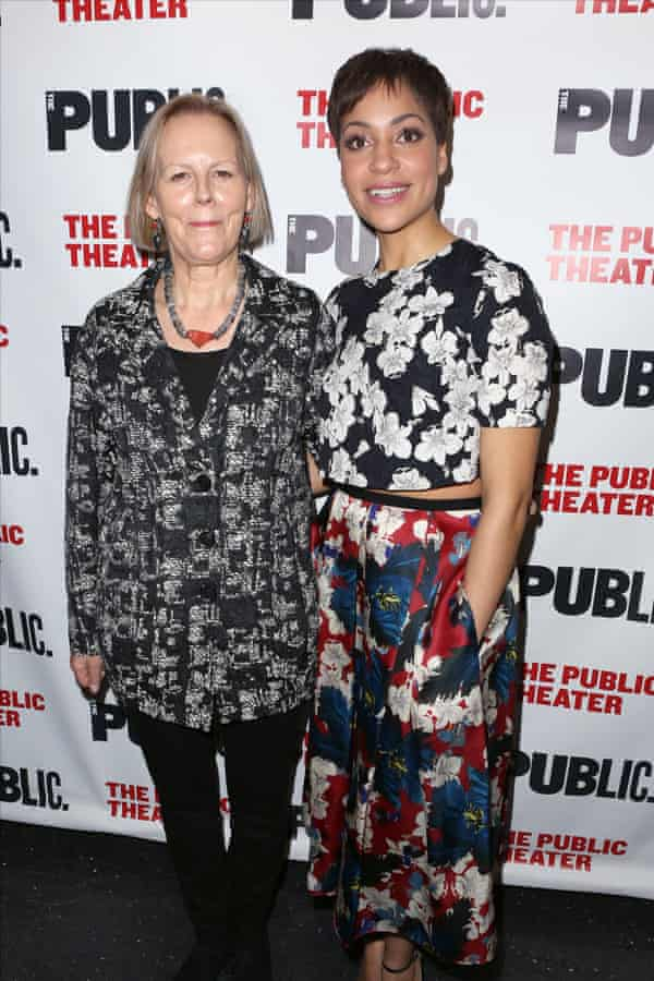 Cush Jumbo with Josephine and I director Phyllida Lloyd at the show's off-Broadway opening night.