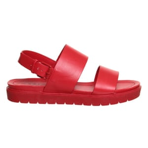50 best flat sandals 2015 - chunky sole all over red sandals by Office
