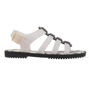 50 best flat sandals 2015 - white jelly gladiator sandals with black sole by Melissa