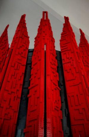Robotica, 2013 (wood, metal, Lego) by Los Carpinteros.