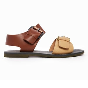 b5ad099a6a8f 50 best flat sandals 2015 - dark brown and light brown leather sandals by G-