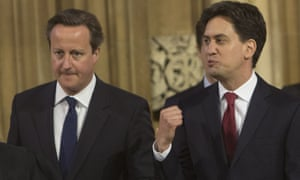 David Cameron (left) has wrongfooted Ed Miliband (right) by echoing Labour's promise not to increase VAT