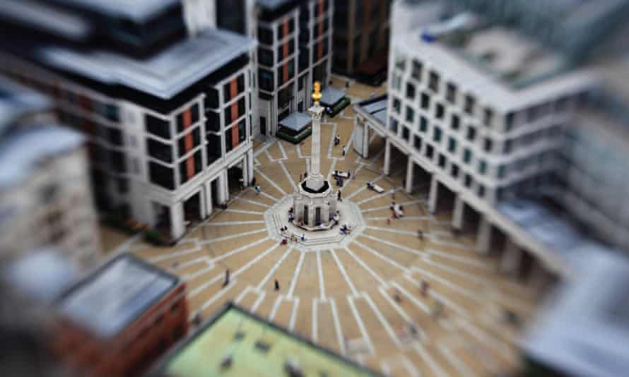 Paternoster Square, London - as seen from St Paul's Cathedral.