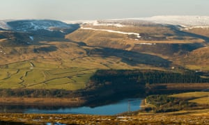 Black Hill and the Longdendale Valley from Bramah Edge on Bleaklow, Derbyshire.