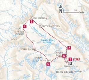 The Black Mountains route