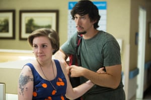 With Lena Dunham in Girls.