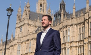 'It's like House of Cards but without the fiction' …Bertie Carvel outside parliament.