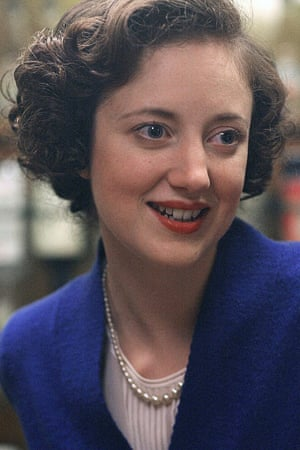 Andrea Riseborough as Margaret Thatcher in The Long Walk to Finchley.